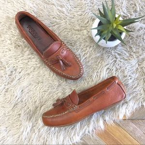 •COLE HAAN• Brown Leather Driving Tassel Loafers